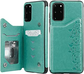 PU Leather Flip Cover Compatible with iPhone X, Elegant green Wallet Case for iPhone X