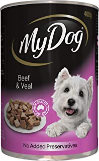 My Dog Beef And Veal Wet Dog Food, 400G Can 24 Pack, Adult, Small/Medium