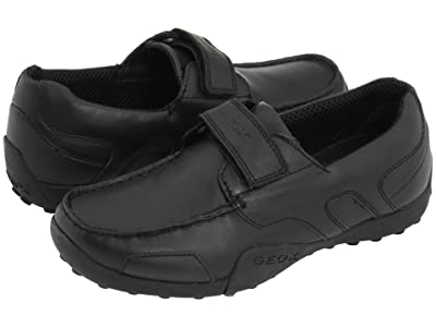 Geox Kids Jr. Snake Moc (Big Kid) (Black) Boys Shoes