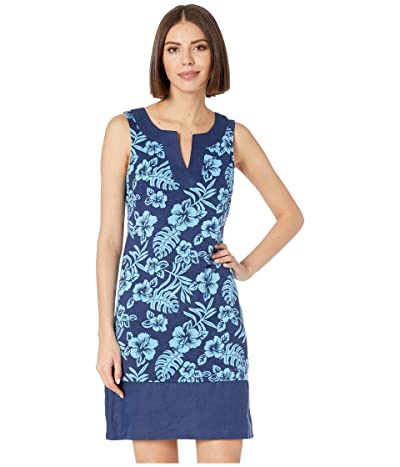 Tommy Bahama Hoani Hibiscus Shift Dress (Island Navy) Women
