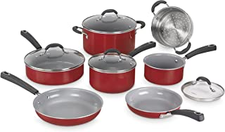 Cuisinart 54C-11R Advantage Ceramica XT Cookware Set, Medium, Red