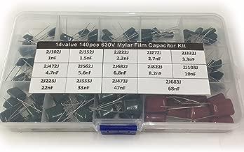 24 Values Range 0.22nF ~ 470nF OCR 660Pcs Polyester Film Capacitor Assortment Box Kits