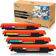 7Magic Cartuchos de toner compatibles para HP 126A(CE310A) 130A(CF350A) para HP LaserJet CP1025 CP1025nw CP1020 M175a M175nw MFP M175a M175nw M275 M275a M275nw(1 Negro 1 Cian 1Magenta 1 Amarillo)