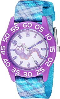 Red Balloon Girls Stainless Steel Analog-Quartz Watch with Nylon Strap, Blue, 16 (Model: WRB000068)