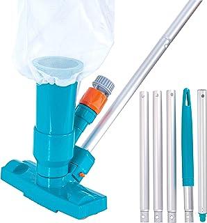 EE.UU. Pool Supply - Aspirador portátil de lujo para piscinas con 5 secciones, cepillo para polvo de exfoliación, bolsa de...