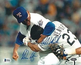 Nolan Ryan & Robin Ventura Signed 'Fight' 8x10 Photo *Rangers BAS L94197 - Beckett Authentication - Autographed MLB Photos