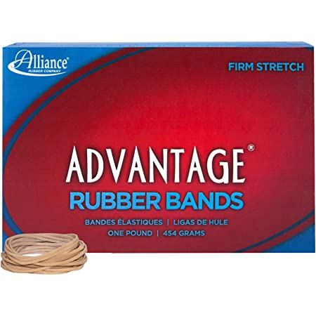 Details about  /Alliance Advantage Blue Rubber Band Size #61 2 x 1 4 Inches 1 Pound Box