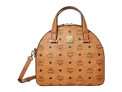 MCM Essential Visetos Original Tote Medium (Cognac) Handbags