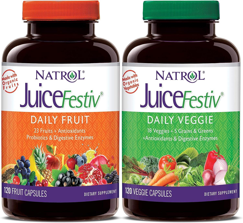 Natrol JuiceFestiv Daily Super Special SALE held Fruit with Probiotics Capsules Milwaukee Mall Veggie