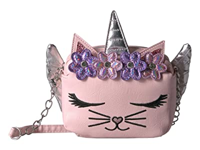 OMG! Accessories Winged Kitty Crossbody (Pink) Cross Body Handbags