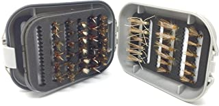 Fly Fishing Flies for Trout and Other Freshwater Fish - 48 Dry Flies and Waterproof Fly Box - 8 Patterns in 3 Sizes (2 of Each Size) Adams, Royal Coachman, Stimulator Yellow and Olive, Madam X, Humpy