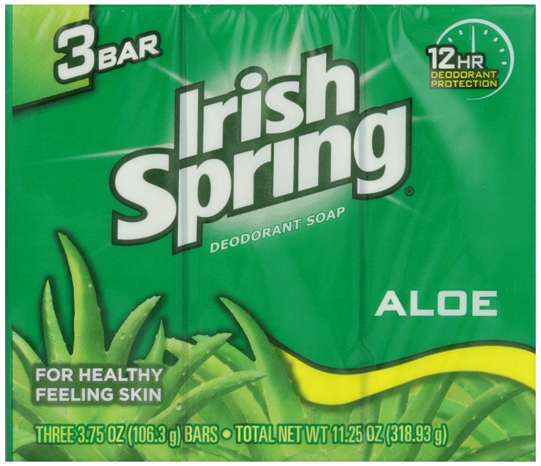 サラダ幾分風味Irish Spring バスバーアロエ3 Pkを