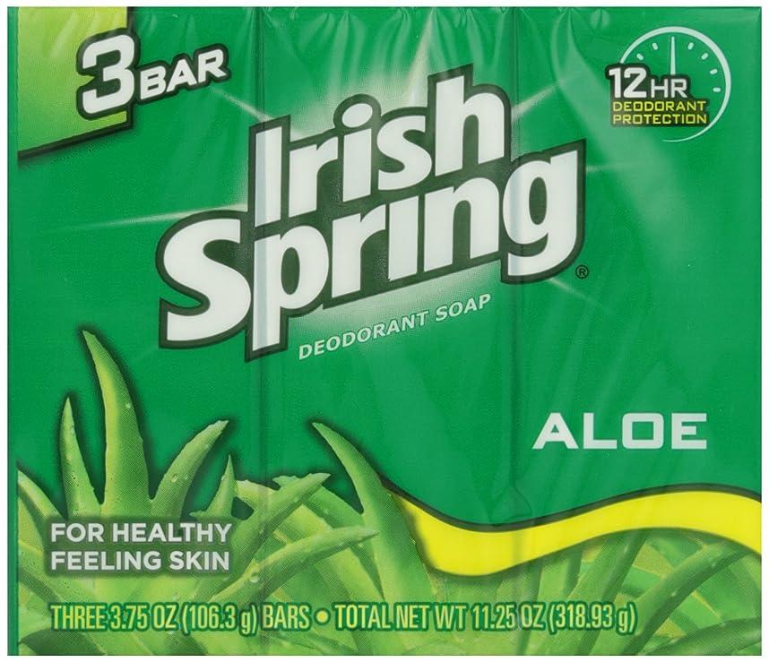キモい調停する専門用語Irish Spring バスバーアロエ3 Pkを