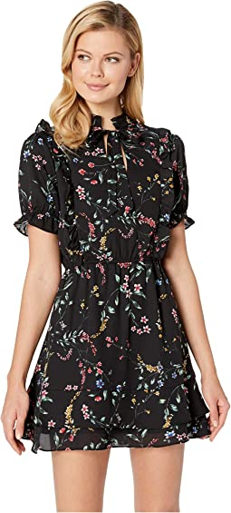 Karolina Printed Fit and Flare Dress