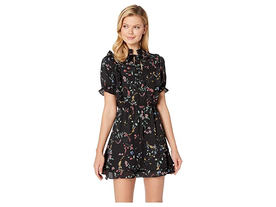 Cupcakes and Cashmere Karolina Printed Fit and Flare Dress (Black) Women