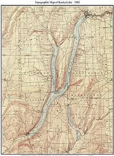 keuka lake topographic map