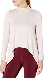 CALVIN KLEIN Performance Women's Funnel Neck Extreme Hi Low Top