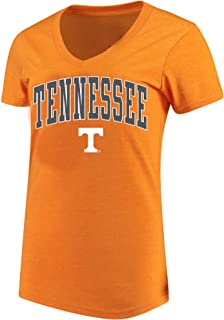 University of Tennessee Women's Plus Size Volunteers Arch Logo V-Neck T-Shirt