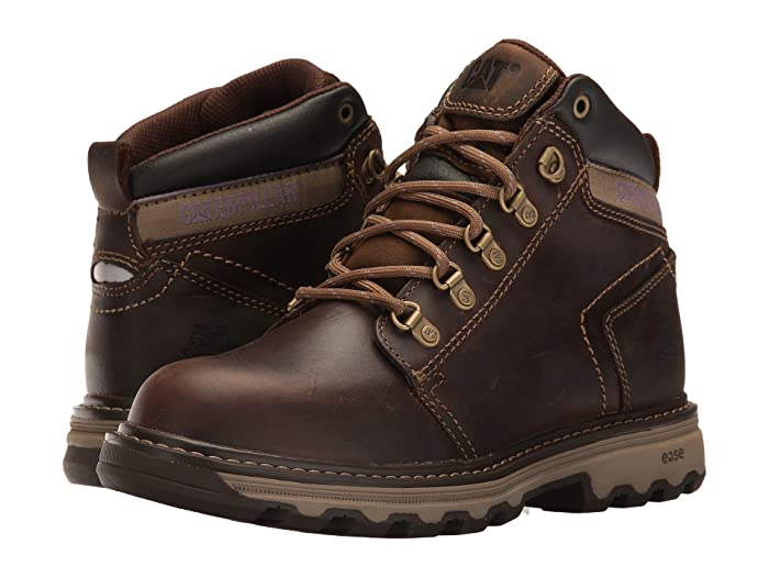 Caterpillar  Ellie Soft Toe (Dark Beige) Womens Work Lace-up Boots