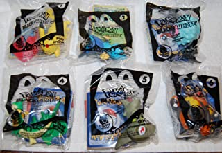 Pokemon 2012 Black & White Figure Set of 6 Characters. Pikachu , Dewott , Woobat , Servine , Axew & Pignite