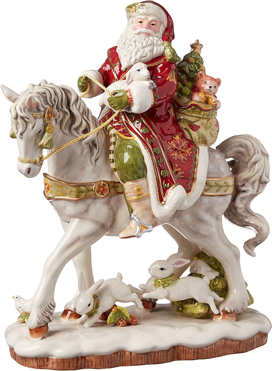 Fitz Manufacturer direct delivery and Floyd Damask Holiday OFFer Figurine 16-Inch Mul Collectible