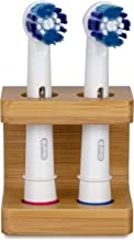 Eco-Friendly Bamboo Toothbrush Holder for Oral B Toothbrush Heads. Plastic-Free, Eco-Friendly, Hand-Made Electric Toothbrush Head Holder. Help Save The Planet.