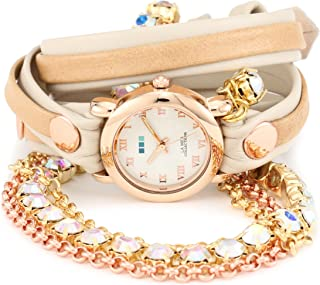 La Mer Collections Women's LMMULTI5002RAIN Rainbow St. Tropez Chandelier Crystal Wrap Watch