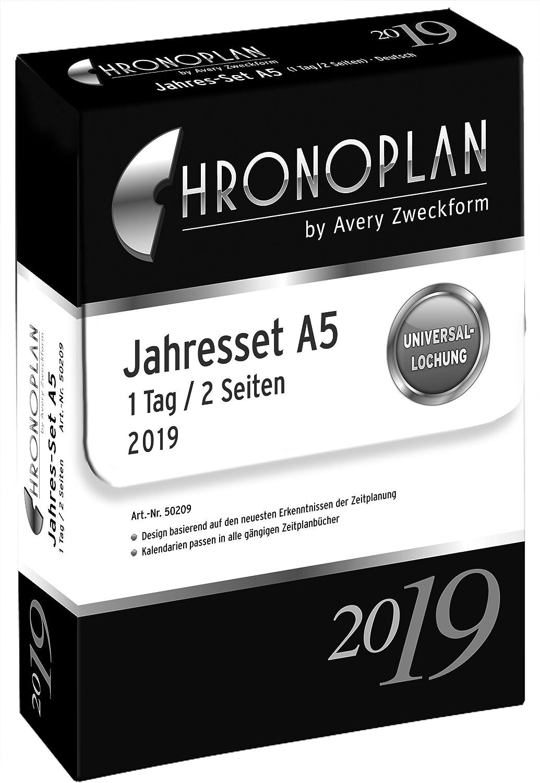 Chronoplan 50209 Kalendereinlage 2019, Jahres-Set Jahres-Set Jahres-Set A5 mit Tagesplänen (1 Tag 2 Seiten), weiß B001JYJRNW | Up-to-date Styling  f7bde9