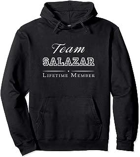 Team Salazar Lifetime Member Personalized Surname Pullover Hoodie