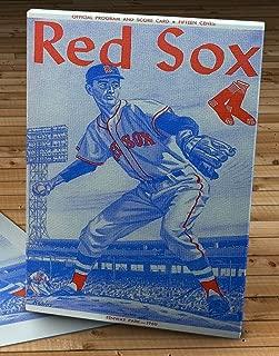 1960 Vintage Red Sox Baseball Scorecard - Canvas Gallery Wrap - 11 x 18