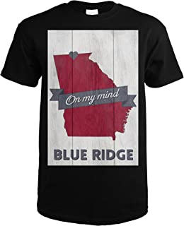 Blue Ridge, Georgia - On My Mind 66378 (Black T-Shirt X-Large)
