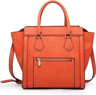 Women's Satchel Handbags and Top Handle Purses Shoulder Bags Vegan Leather Tote for Ladies