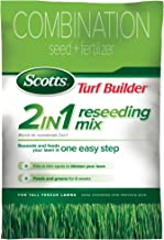 Scotts Turf Builder Grass Seed + Fertilizer 2-in-1 Tall Fescue Reseeding Mix, 20-Pound