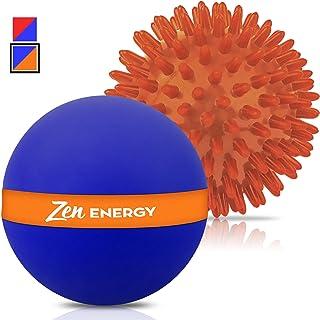 Epitomie Fitness Zen Energy Pro Massage Balls - Large Ball for Massage & Large Spiky Reflexology Ball Makes Perfect Roller Ball Massager Set for Self Massages & Myofascial Release