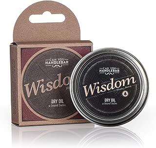 Wisdom - Woodsy & Citrus Aroma - Premium Beard Balm For Men | Dry Oil Beard Conditioner | 2 Oz Stainless Steel Tin