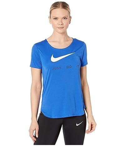 Nike Top Short Sleeve Swoosh Run (Game Royal/White) Women