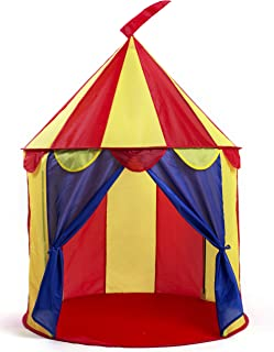 Kiddey Sale Circus Pop Up Play Tent for Kids – Indoor/Outdoor Use – Fun, Brightly Colored House – Easy to Assemble Toy – Includes 4 Ground Stakes