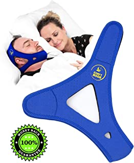 Anti Snoring Chin Strap That Works! - Effective Device for CPAP Users & Mouth Snorers (Women & Men) - Color: Black/Blue/Pink - Size: Small, Medium, Large - Best & Comfortable Snore Stopper