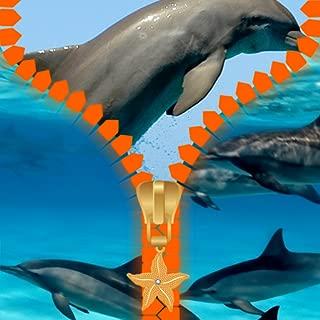 Pantalla de bloqueo de la cremallera delfines