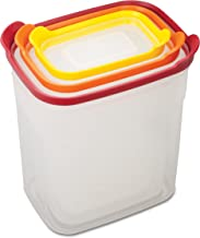 Joseph Joseph 81020 Nest Storage Tall Plastic Food Storage Containers Set Food Saver Resuable Lunch Box Pantry Storage Mic...
