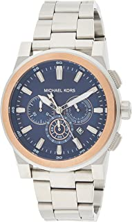 Michael Kors Mens Quartz Watch, Analog Display and Stainless Steel Strap MK8598