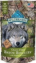 Blue Buffalo Wilderness Bayou Biscuits High Protein Grain Free Crunchy Dog Treats Biscuits, Alligator & Catfish 8-oz bag