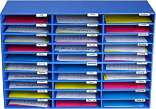 AdirOffice File Organizer Classroom - Office - Home - Blue - Corrugated Cardboard (30 Slots, Blue)