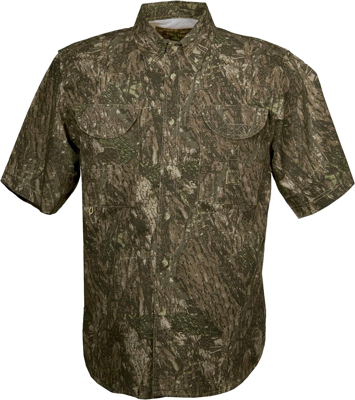 Tiger Hill Men's Camouflage Fishing Shirt Short Sleeves