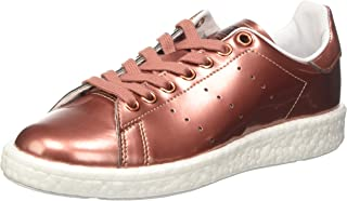 adidas Originals Womens Stan Smith Boost Mirrored Metallic Upper Trainers Shoes