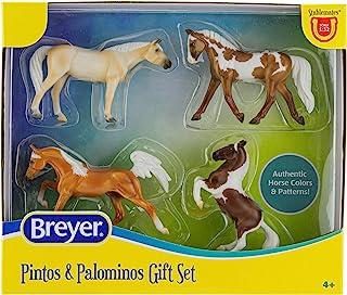 مجموعة براير هورس ستابليماتس بينتوس وبالومينوس | 4 حصان | مقياس 1:32 | 3.75 بوصة × 2.5 بوصة | لعبة حصان | موديل #6226