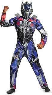 Disguise Hasbro Transformers Age of Extinction Movie Optimus Prime Classic Muscle Boys Costume, Medium/7-8