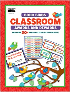 Carson Dellosa | Boho Birds Awards and Rewards | 30 Motivational Messages, Printable