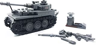 koolfigure Custom Sets of WW2 German Army Tiger Tanks, WWII Mini Building Blocks Toys for Kids Age 6+ (Tank B- 233 PCS)