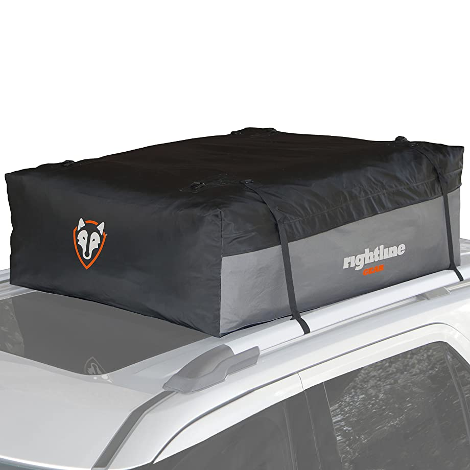 Rightline Gear Sport 3 Car Top Carrier, 18 cu ft, Waterproof, Attaches With or Without Roof Rack